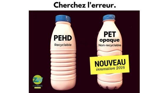 PET Opaque contre PEHD recyclable